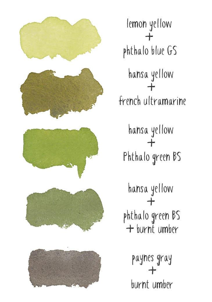 apple paint color mixtures