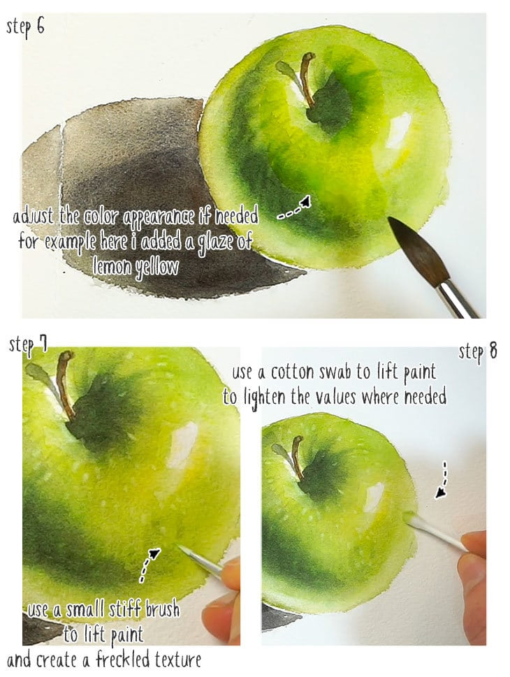 realistic watercolor step by step part 2