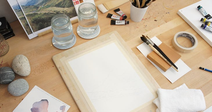 watercolor painting supplies for beginners