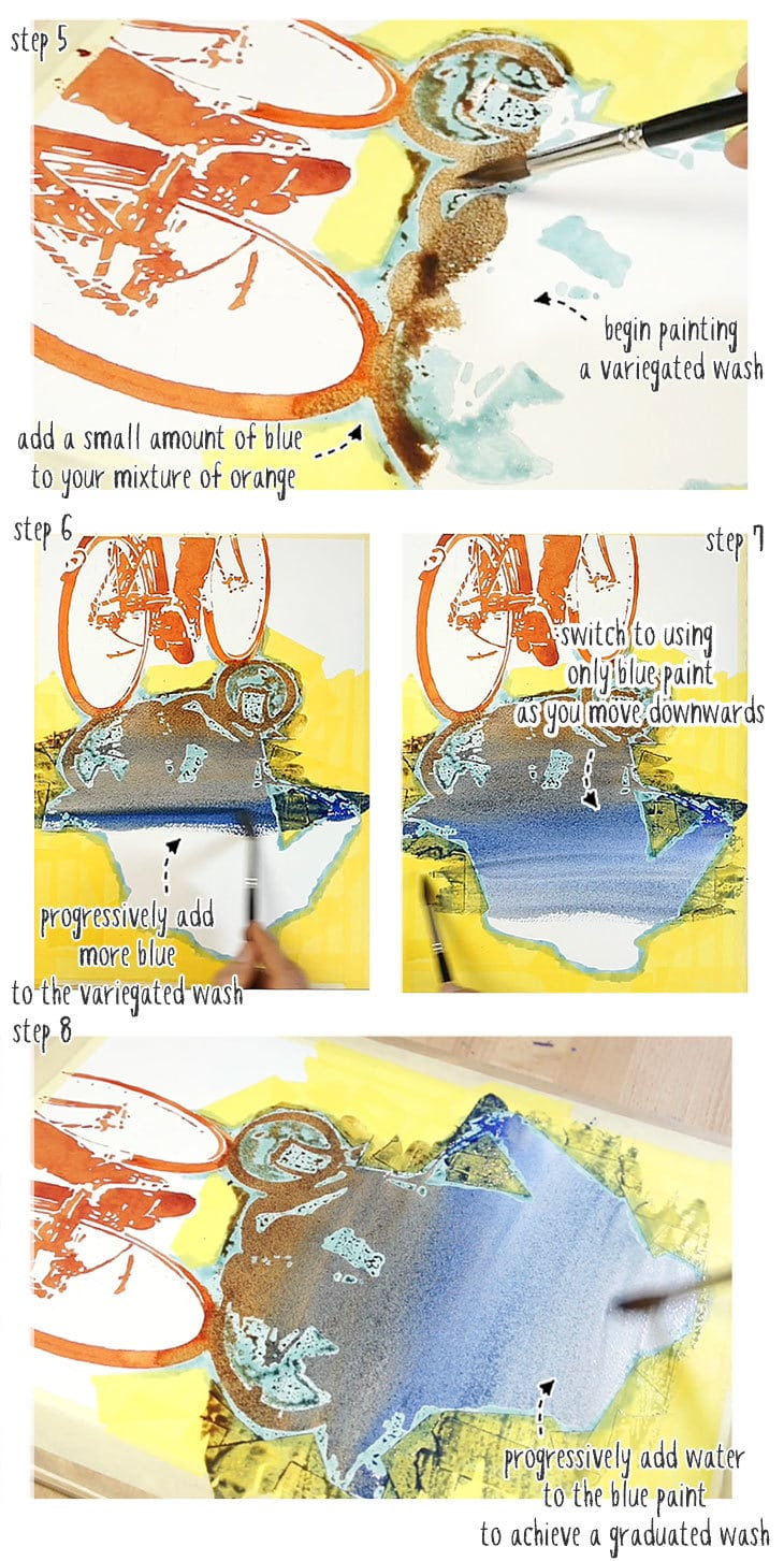 watercolor practice step by step stage 02