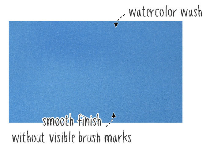 what is a watercolor wash