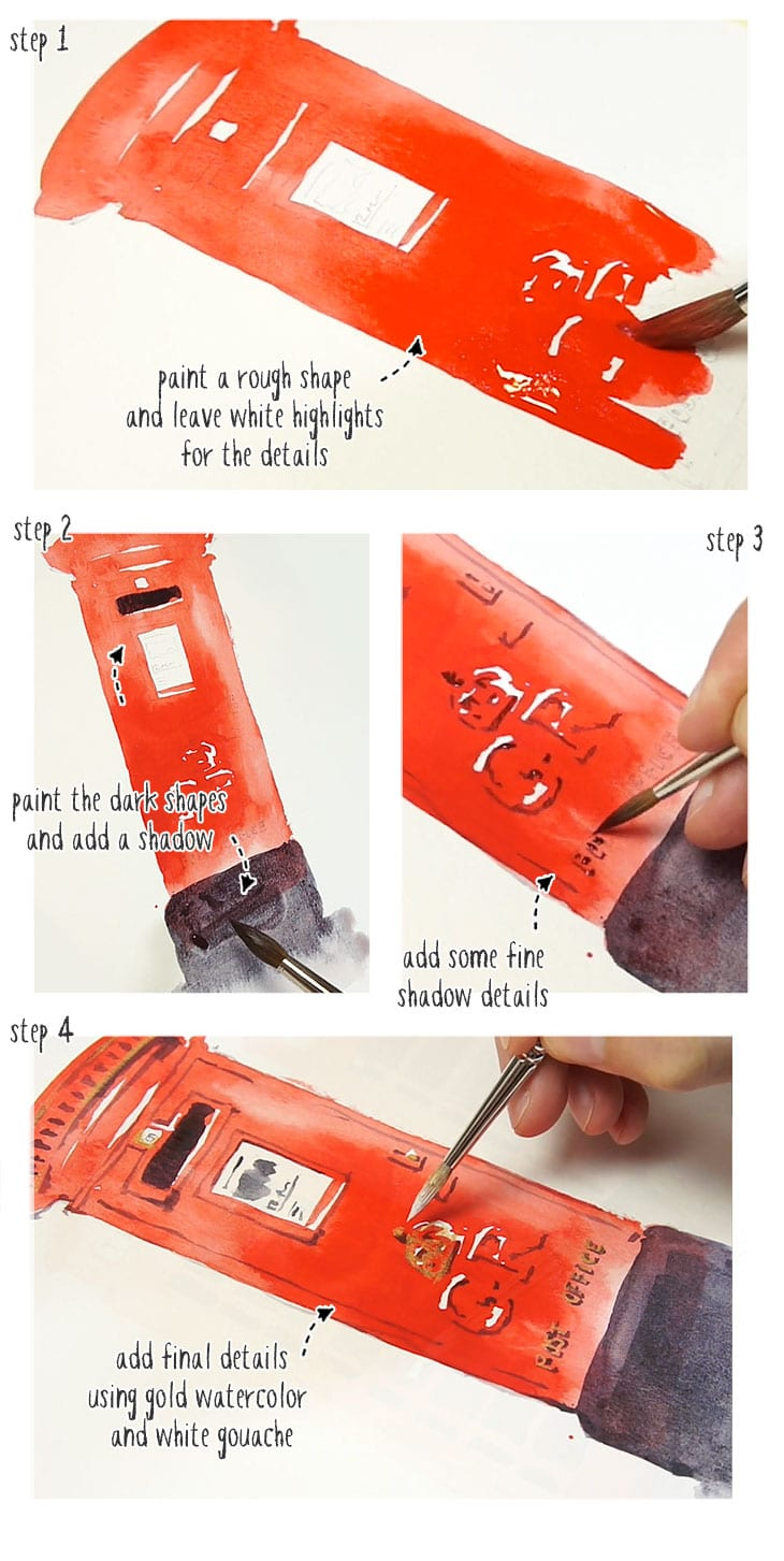 simple watercolor demo 2 step by step